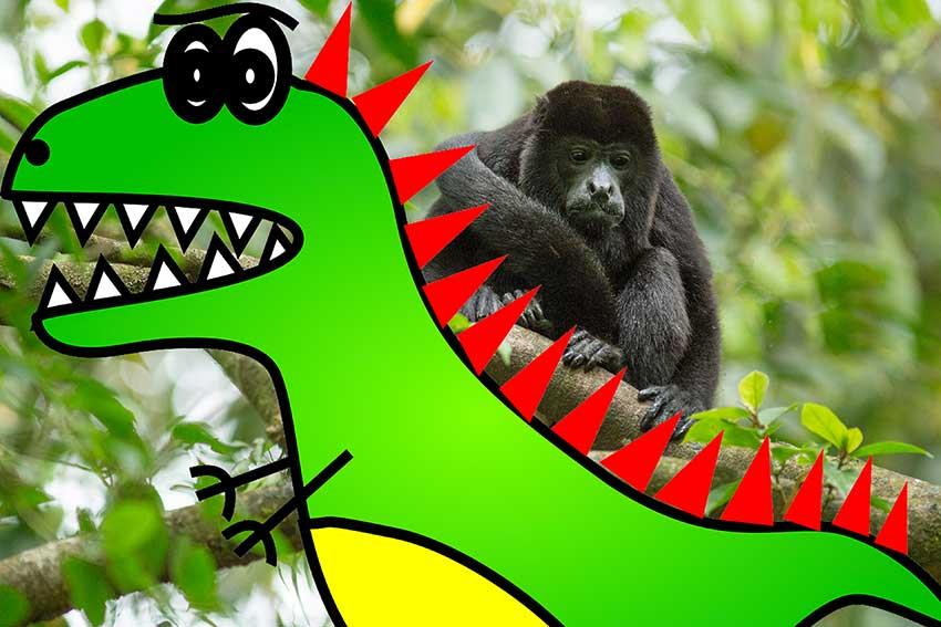 howler monkey t-rex