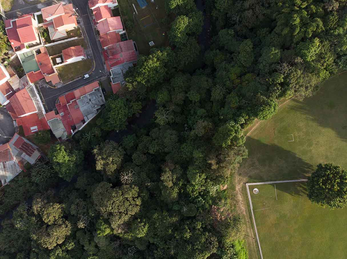 Costa Rica UCR University tour from air